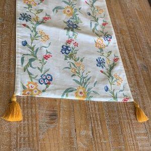 """Opalhouse Floral Tasseled Table Runner 14""""x107"""""""
